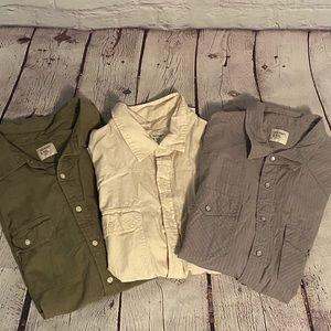 3 Men's Old Navy Shirts   Short Sleeve   XXL